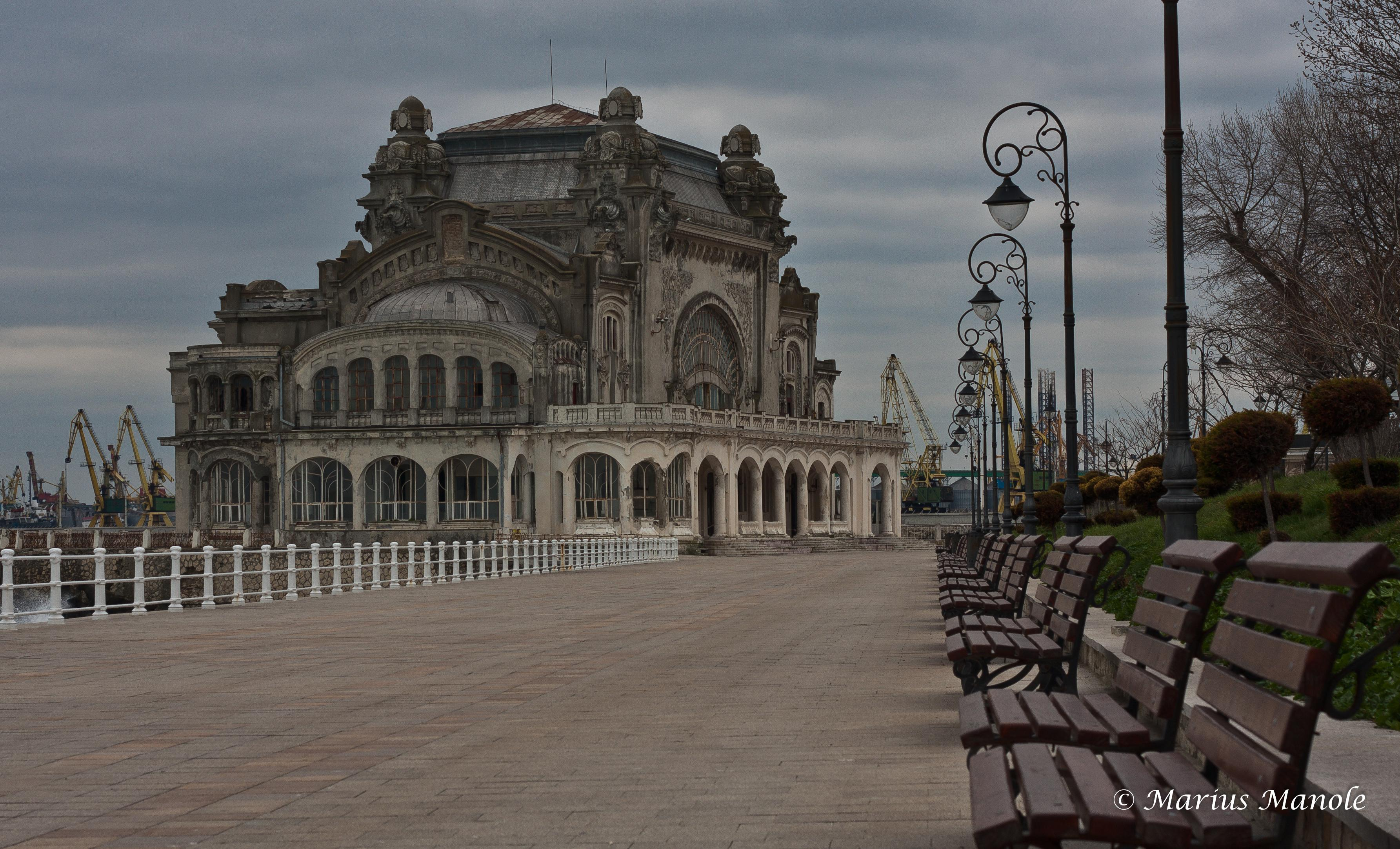 500px Photo ID: 144455227 – Completed between the two World Wars in art nouveau style according to the plans of the architects Daniel Renard and Petre Antonescu, the Casino features sumptuous architecture and a wonderful view of the sea. The pedestrian are